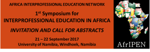 Abstract submission deadline EXTENDED TO 27 May 2017: First Symposium for Interprofessional Education in Africa.