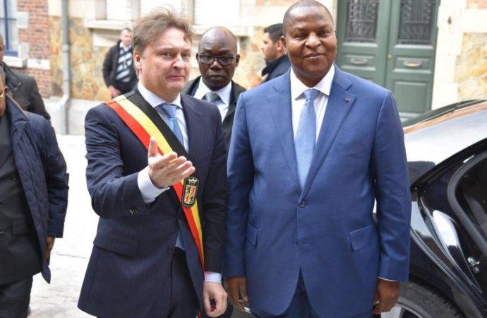 Le président centrafricain à la rencontre des chefs d'entreprise du Hainaut