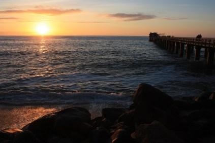 Coucher de soleil sur l'Atlantique, à Swakopmund / Sunset on the Atlantic Ocean, in Swakopmund