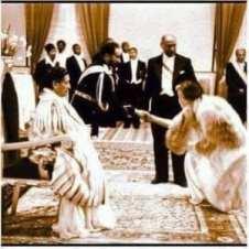 Hailé Sélassié 1er et la Reine Elisabeth