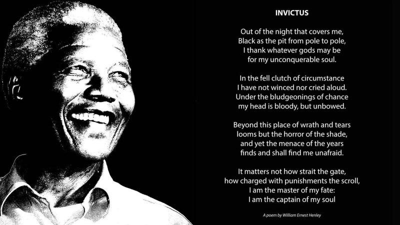 Invictus – Un poème qui donna force et soutien à Nelson Mandela