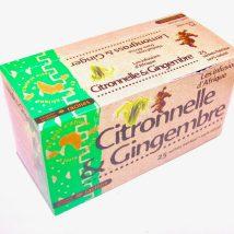 Citronnelle & gingembre: infusion d'Afrique