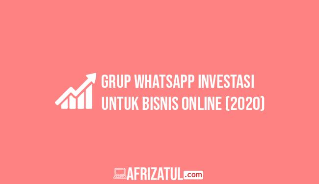 grup whatsapp investasi