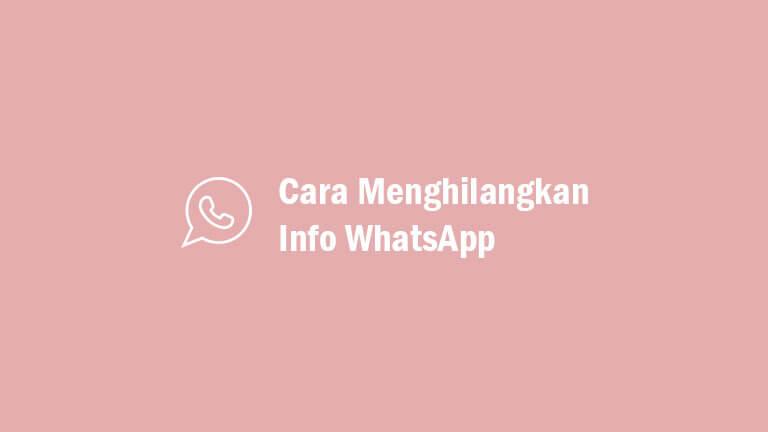 Kumpulan gambar pp dp bbm wa yang lucu author. 2 Cara Menghilangkan Info Di Wa Whatsapp Tanpa Aplikasi 2021