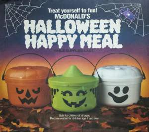 mcdonalds happy meal pails halloween