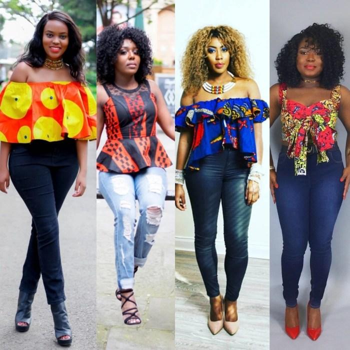 14 Trendy Ankara Tops And Jeans For Curvy Ladies - AfroCosmopolitan
