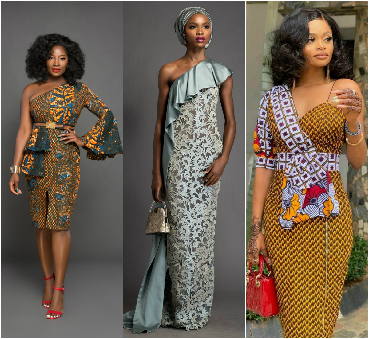 Beautiful One Shoulder Ankara Dresses For Ladies With Style