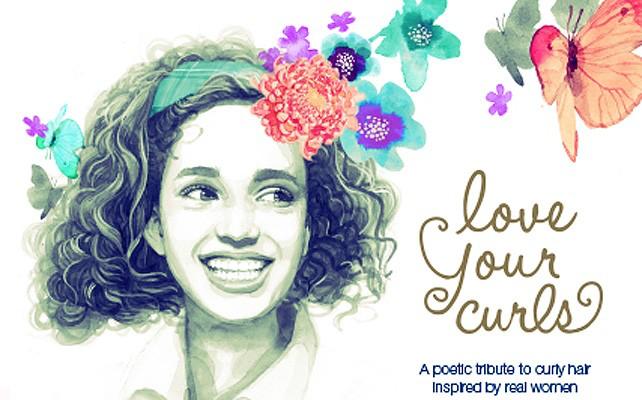 """Portada del libro """"Love your curls"""""""