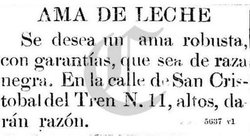 Anuncio del diario El Comercio, Lima, año 1904.