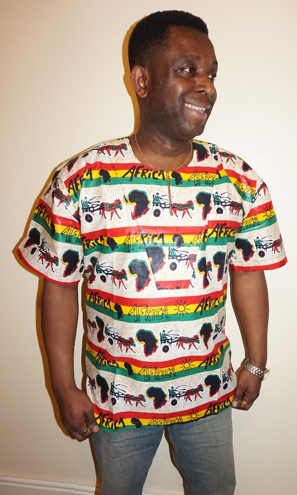 Africa map and cart print shirt