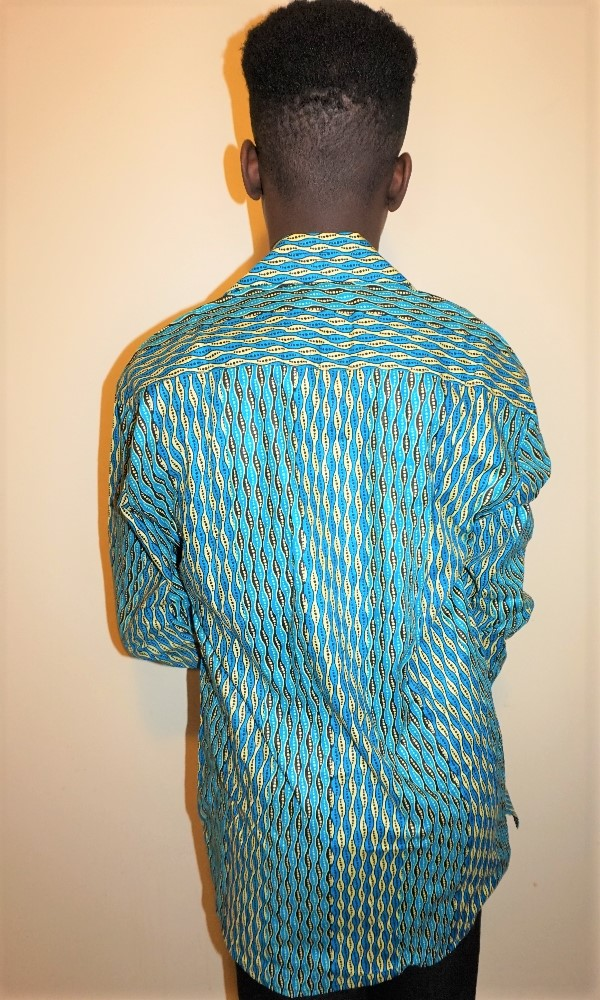 Long sleeved African print shirt