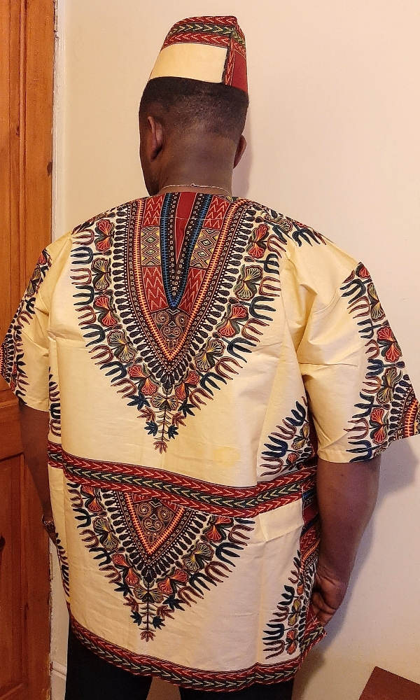 Dashiki shirt with matching boat hat