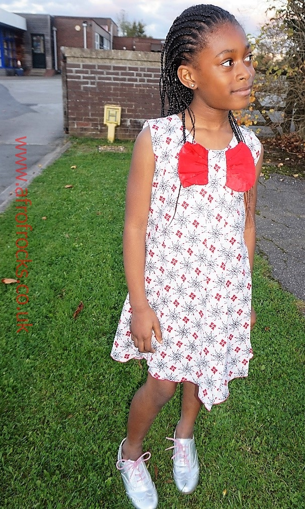 Girls red wings dress
