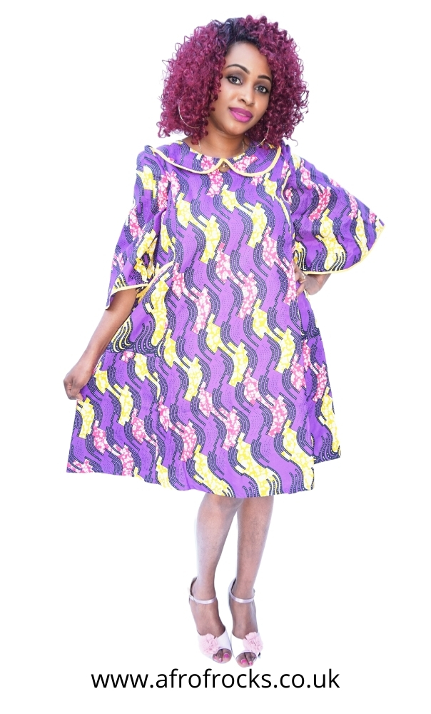 African Print Bell Mouth Dress