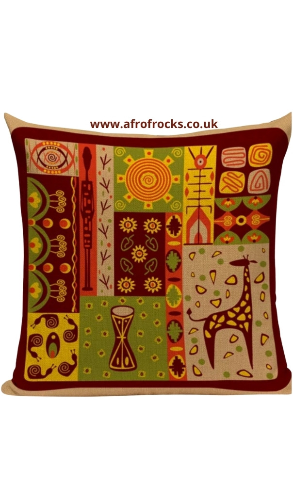African Culture and Symbols Ethnic Decorative Sofa pillows