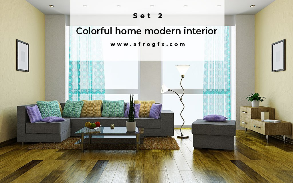 Colorful home modern interior Set 2