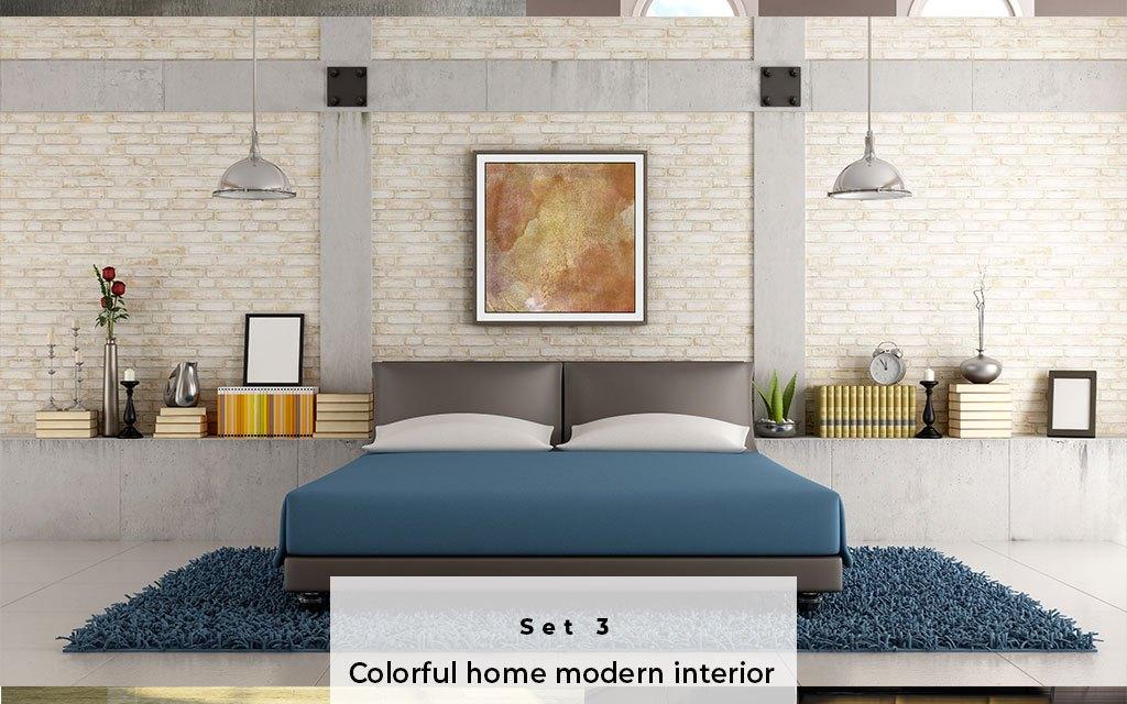 Colorful home modern interior Set 3