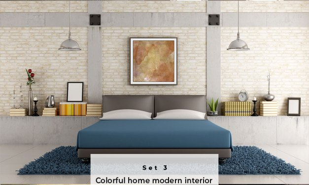 Colorful home modern interior Set 3