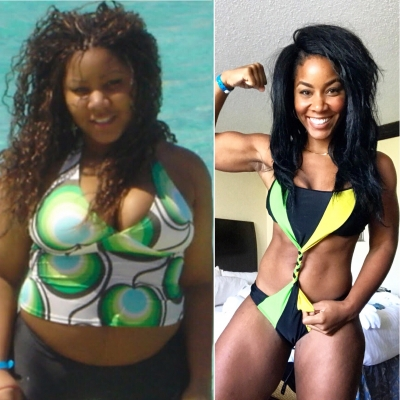 Tameika lost over 90lbs and started living a whole new life