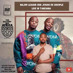 Major League & Josiah De Disciple - Amapiano Live Balcony Mix B2B (Sunset live in Tanzania)