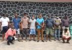 EFCC arrests 10 men for alleged Internet Fraud in Lagos
