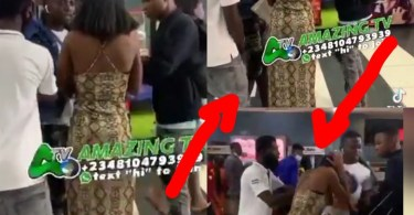 Guy Caught His Girlfriend With Another Guy In Public, See What He Did