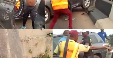 Driver Hits Police Officer Off a Bridge While Trying To Escape Arrest From LASTMA Officials
