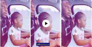 Ghanaians Call For Stonebwoy's Arrest For Allowing His 3-year-old Daughter To Drive