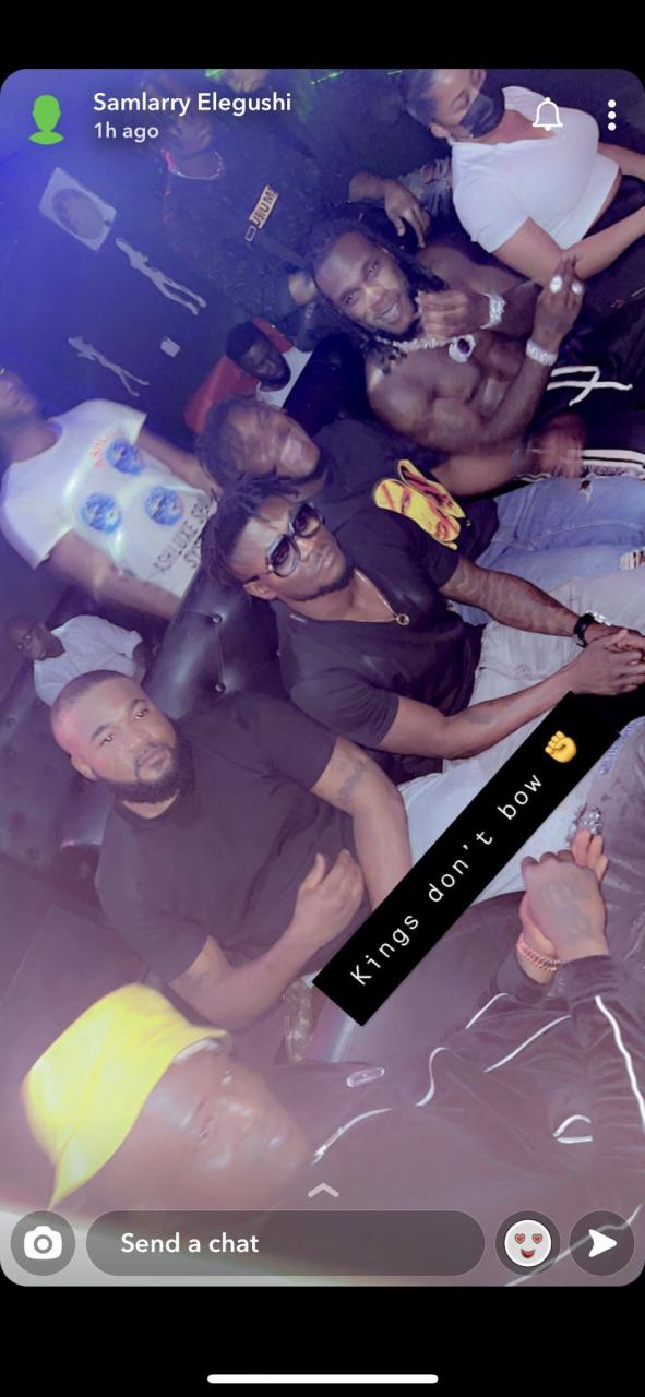 CDQ Spotted in Club With Burna Boy and Obafemi Martins Hours After He Slammed Him For Disrespecting The Legend