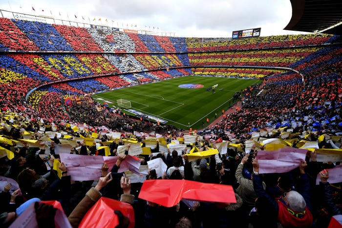 Barcelona Named Number One In Forbes List of The World's 20 Most Valuable Football Clubs