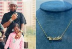 See Expensive Customized Pendant Davido Buy For His Daughter, Imade
