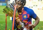 Nigerian Asisat Oshoala Becomes First African Woman To Win Champions League as Barcelona Defeats Chelsea 4-0 in Final