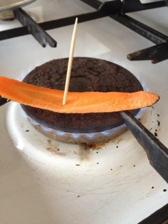 Burning carrots