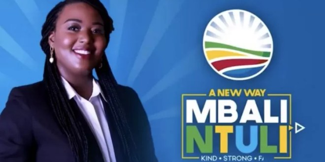 DA Politician Mbali Ntuli Tests Positive For Covid-19