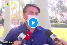 Photo of Brazil's media community to sue President Bolsonaro after he stood close to reporters and removed his mask