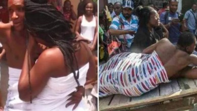 Photo of Couple Who Became Stuck Together During Sex Paraded Through Streets On Stretcher