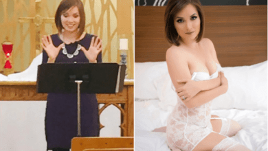 Photo of Shocker as pastor dumps pulpit to become a stripper, says she has never been happier