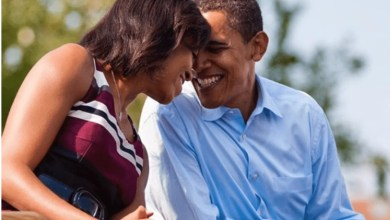 Photo of Barack and Michelle Obama celebrate their 28th wedding anniversary with heartwarming message