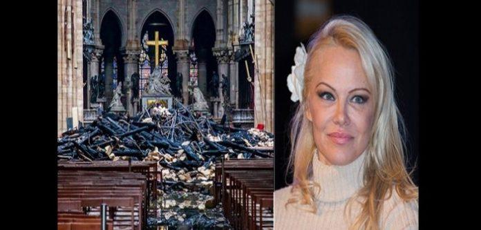 Pamela Anderson contre les dons de notre dame de paris