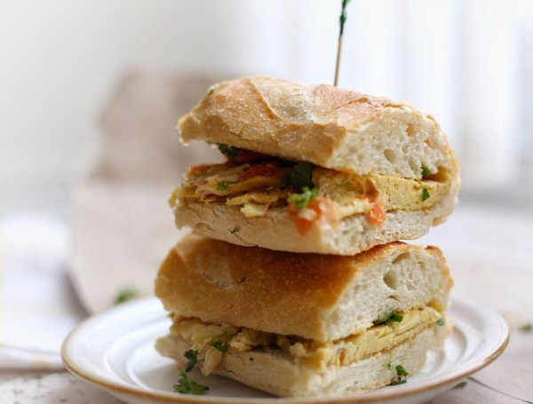Breakfast baguette Egg Sandwich