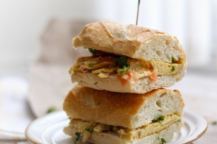 Simple Baguette Egg Sandwich