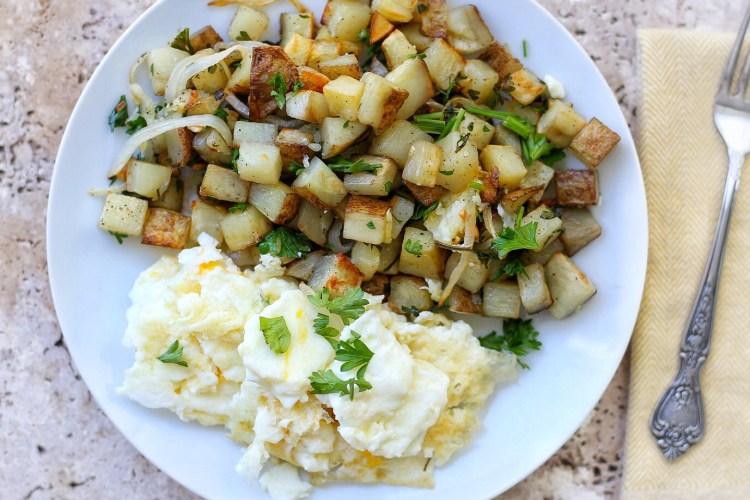 Savory Potato Hash with Egg whites