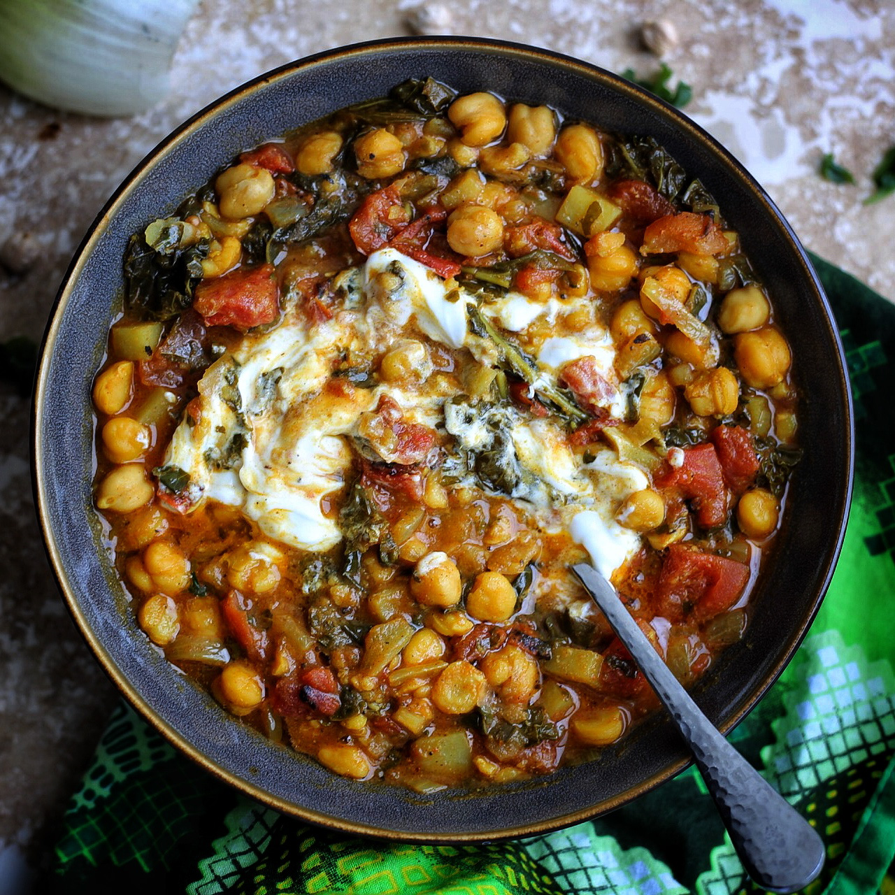 Spicy chickpea curry with Kenyan Pilau Masala
