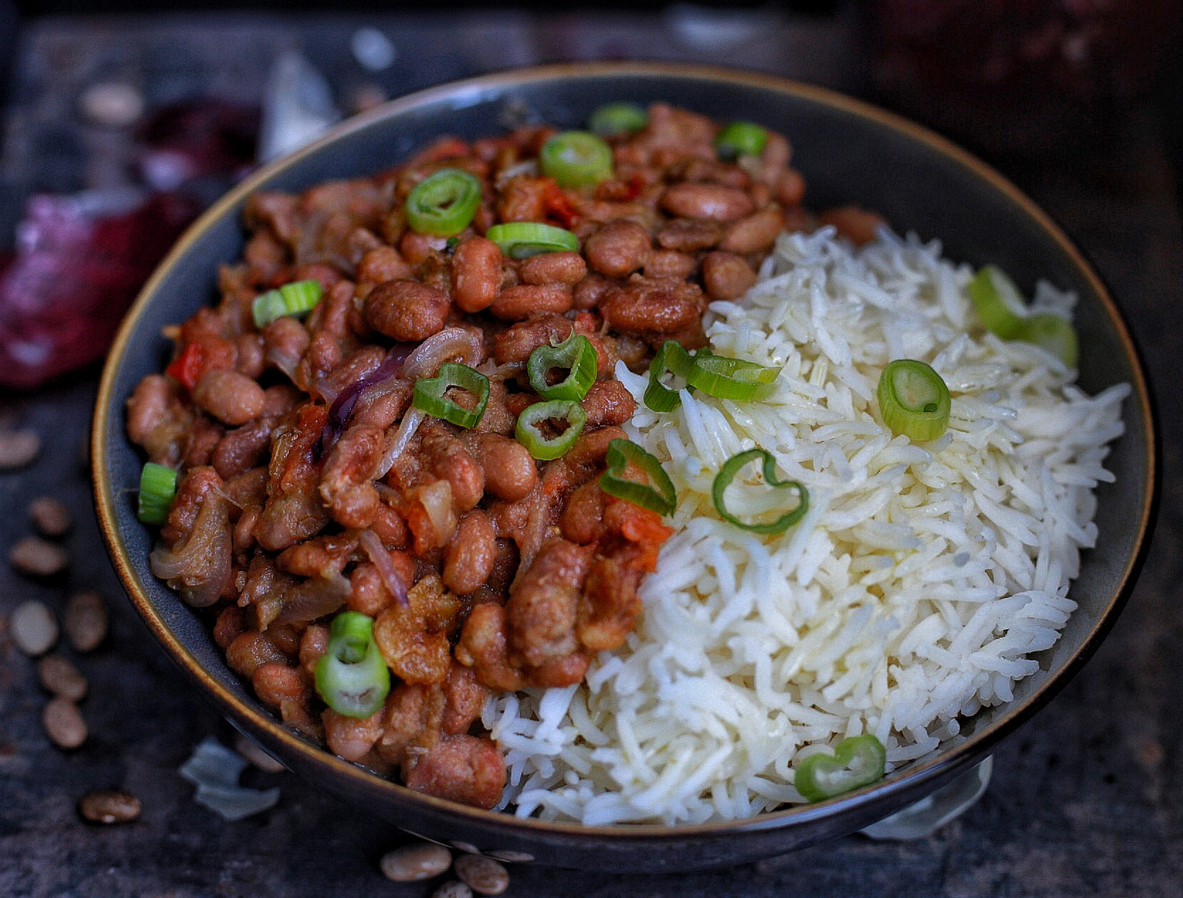 African Stewed Pinto Beans With Rice Afrovitalityeats