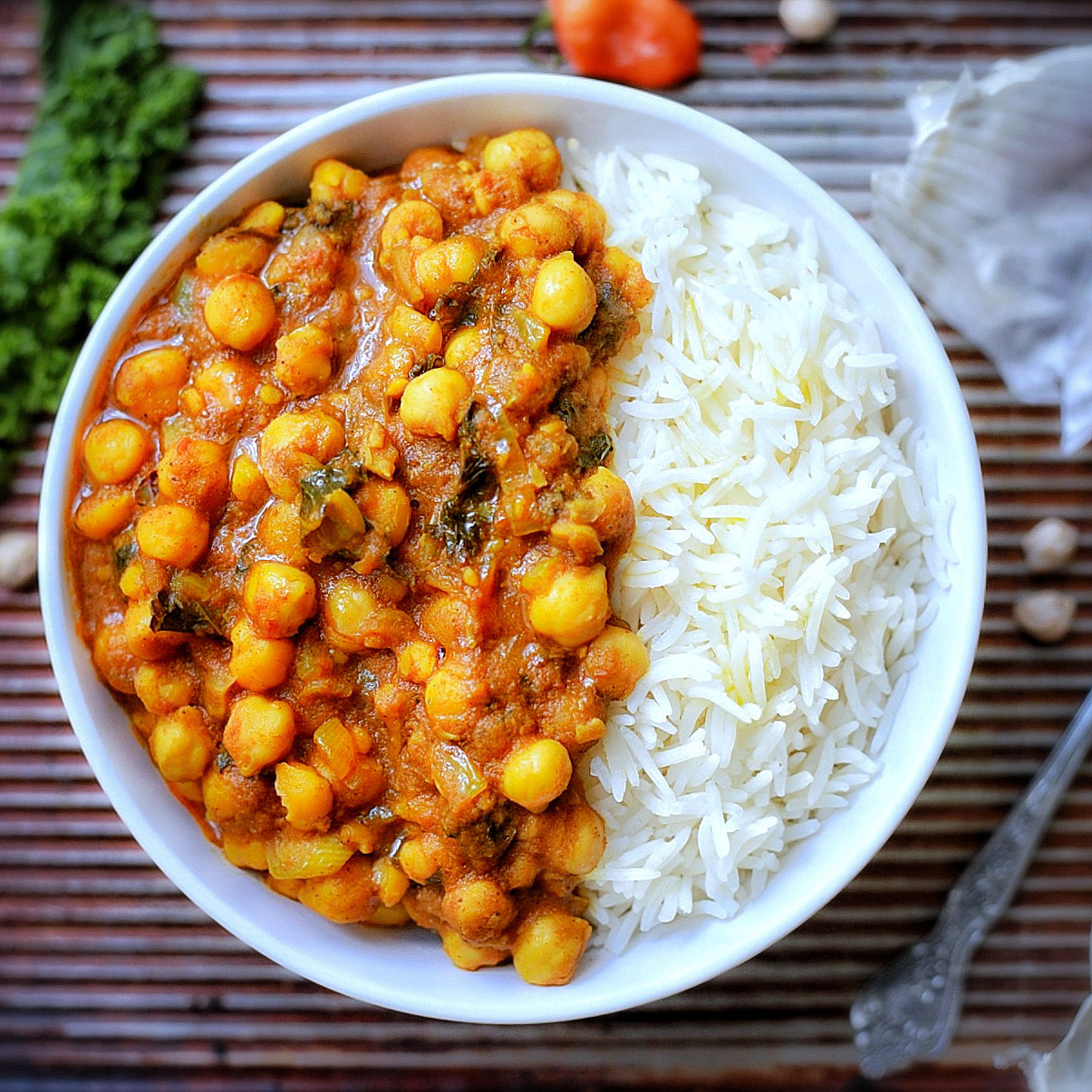Caribbean chickpea curry