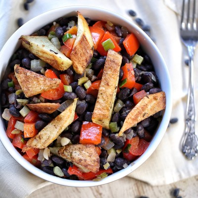 Spicy Black bean salad bowl