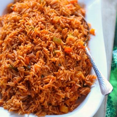 veggie jollof rice Cameroon