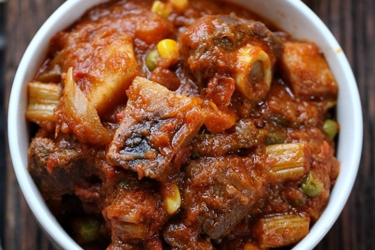 Goat Meat stew with cocoyams