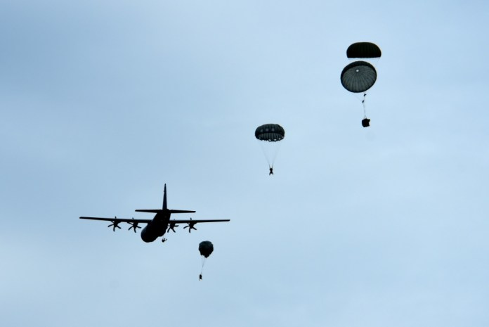 Taking the plunge: 57th RQS practices over-water parachuting
