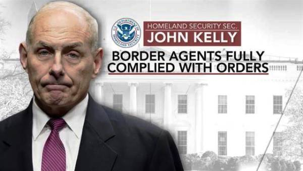 JOHN KELLY CALLS TRUMP BACK THE ODER AGENISTY 7 MUSLIM COURNTERIES 2017
